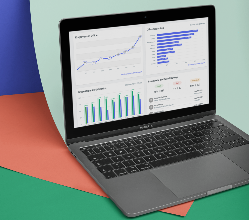 Worksphere dashboard on colorful background